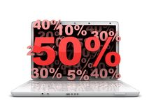 Laptop 50% Royalty Free Stock Photography