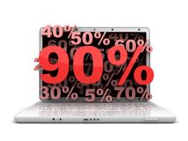 Laptop 90% Stock Photo