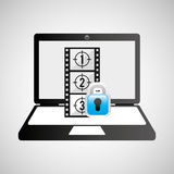 Laptop media player movie secure Stock Images