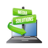 Laptop media solution Royalty Free Stock Photography