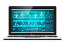 Laptop with medical cardiological diagnostic software Stock Photo