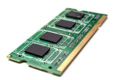 Laptop RAM Memory Chip royalty free stock photos