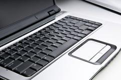 Laptop, mening op toetsenbord. Stock Afbeelding