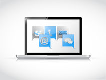 Laptop message bubble communication concept Royalty Free Stock Images