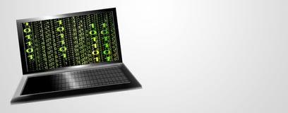 Laptop met aantallen royalty-vrije illustratie