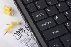 Laptop met een vorm 1040 Stock Afbeelding
