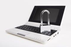 Laptop met het hangslot Stock Afbeelding