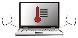 Laptop met stoom Stock Fotografie