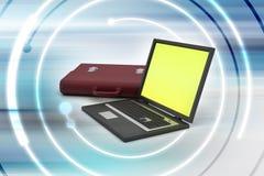 Laptop met zak Royalty-vrije Stock Fotografie