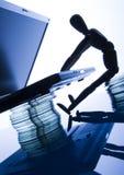 Laptop mit Abbildung Lizenzfreie Stockfotografie