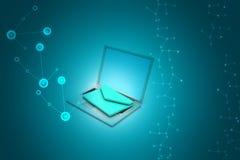 Laptop mit E-Mail Lizenzfreies Stockbild