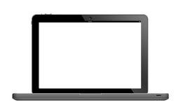 Laptop mit leerem Bildschirm Stockfoto