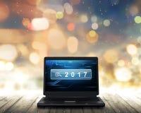 Laptop mit Nr. 2017 Lizenzfreie Stockfotos