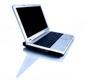 Laptop mit Reflexion Stockfotografie