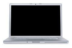 Laptop mit unbelegtem Bildschirm Stockfoto