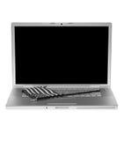 Laptop mit US-Markierungsfahne Stockbilder