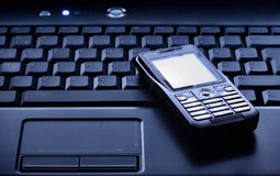 Laptop and Mobile Phone Royalty Free Stock Photography