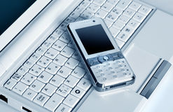 Laptop and Mobile Phone Royalty Free Stock Photo