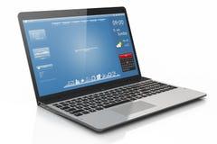Laptop mobiliteit. interface. Stock Foto