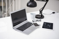 Laptop mockup Royalty Free Stock Image
