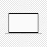 Laptop. Modern computer on transparent background royalty free illustration