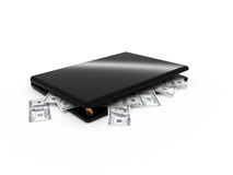Laptop+money Stock Photo