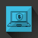 Laptop money finance digital icon Royalty Free Stock Image