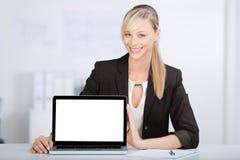 Laptop monitor royalty-vrije stock afbeelding