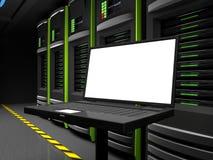Laptop monitor Stock Image