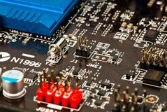Laptop motherboard closeup Stock Photography