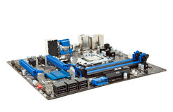 Laptop motherboard isolated Royalty Free Stock Image