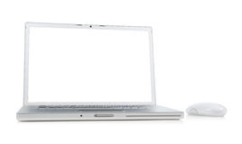 Laptop with mouse Royalty Free Stock Images