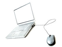 Laptop and mouse Royalty Free Stock Images