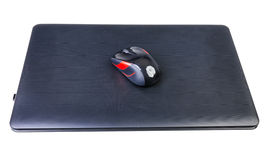 Laptop and mouse Stock Image
