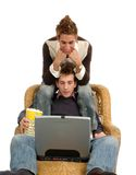 Laptop Movies Stock Images