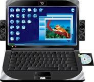 laptop multimedie royalty ilustracja