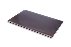 Laptop na białym tle Obraz Stock