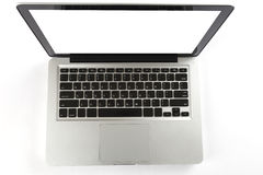 Laptop na białym tle Fotografia Stock