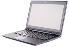 Laptop nad biały bakground Fotografia Royalty Free
