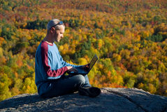Laptop nature Stock Image