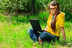 laptop nauka fotografia stock