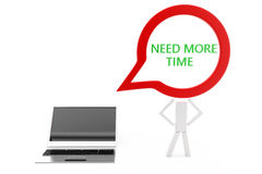 Laptop with need more time concept Royalty Free Stock Images