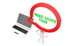 Laptop with need more time concept Stock Image