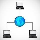 Laptop netwerk Stock Foto's