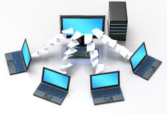 Laptop Network Stock Photography