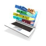 Laptop Networking Stock Photo