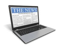 Laptop News Stock Images