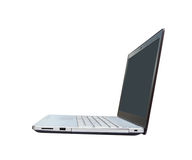 Laptop no fundo branco Imagens de Stock