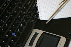 Laptop Nota's Stock Afbeelding