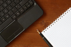 Laptop And Notebook Royalty Free Stock Photo